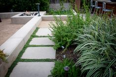 Concrete Pavers with Foliage Joints Concrete Pavers, Pathways, Landscaping, Sidewalk, Tours, Garden, Garten, Lawn And Garden, Yard Landscaping