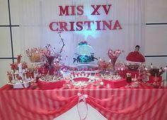 Mesa de dulces mis xv