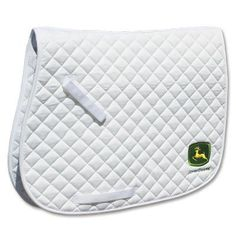 John Deere Quilted All-Purpose English Pad by John Deere. $59.95. Perfect for everyday use, this saddle pad is designed with a soft, thick cotton diamond quilted pattern that provides maximum protection and wicks away sweat. The contoured top line promotes constant airflow to keep your horse cool and comfortable. Rear bottom corner is adorned with stylish John Deere logo. Sturdy hook and loop billet keepers assist in keeping the pad in place.