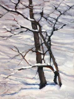 """Winter Impression"" 6x8 oil by Daniel Herczak.  Now on Etsy for $110."