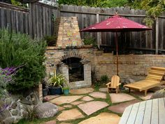 Terraza con chimenea - Backyard with fireplace