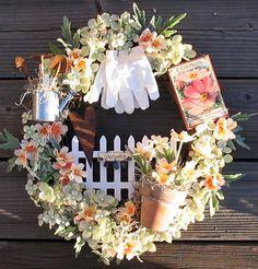 gorgeous garden themed wreath
