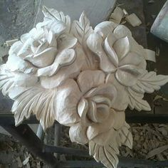 Clay Wall Art, Home Wall Art, Clay Art, Sculpture Ornementale, Wall Sculptures, Wood Carving Art, Wood Art, Antique French Furniture, Plaster Art