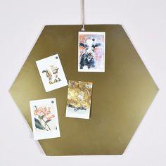 Brass Hexagonal Notice Board