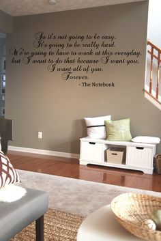 It's Not Going To Be Easy The Notebook by ItsOnTheWallsDecals, $20.00