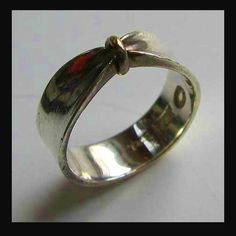 Sterling silver and gold ring by Georg Jensen
