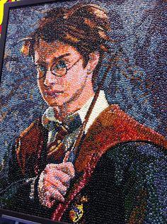 Harry Potter jelly bean art