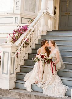 Two beautiful brides in San Francisco.  Film Photography, Wedding photography in San Francisco, Christina McNeill.