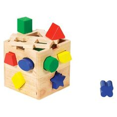 Shape-Sorting Cube Toy Set 13-ct. $14.99  http://www.target.com/p/shape-sorting-cube-toy-set-13-ct/-/A-706975#prodSlot=medium_2_41