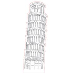 Pisa tower 3d illusion lamp plan vector file for CNC - 3bee-studio