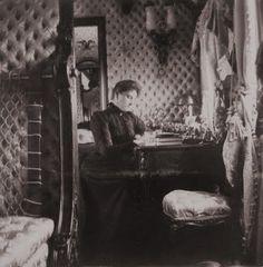Alexandra at her writing desk.The last Tsarina.