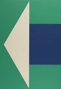 "Francis Baudevin [Switzerland] (b 1964) ~ ""Stereo"", 2013. Acrylic on canvas (81 x 56 cm)"