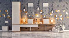 Trendy best bathroom lighting for makeup interior design 30 Ideas Best Bathroom Lighting, Contemporary Bathroom Lighting, Contemporary Bathroom Designs, Gray And White Bathroom, White Vanity Bathroom, Bathroom Vanities, White Bathrooms, Modern Bathrooms, Bathroom Cabinets