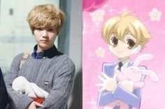Ouran High School Host Club Honey Sempi and Exo's Luhan. <3 I SEE NO DIFFERENCE <3