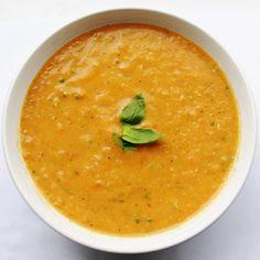 Paleo roasted tomato basil soup