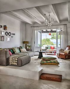 Maybe white ceiling to eliminate so much gray..but love the rest