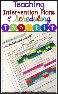 Scheduling in a special education classroom can be a bear! This toolkit has lots of schedule examples and shows how to take student goals and translate it into the class schedule.