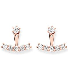 Thomas Sabo Earrings Glam & Soul White Zirconia Rose Gold | C W Sellors Fine Jewellery and Luxury Watches