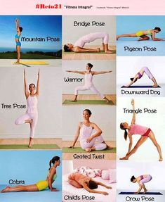 Te comparto una sencilla rutina de ejercicios de Yoga para Principiantes Te la recomiendo todas las mañanas realizando tres respiraciones profundas por postura. . Te ayudara diariamente a mantenerte joven, sin estres y en equilibrio