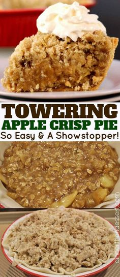 Instead of a classic apple pie or apple crisp you get the best of both worlds with an Apple Crisp Pie!