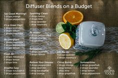 We know essential oils are often expensive, and diffusing themmay use up more oil than you would like. So we have come up with a list of diffuser blends using 5 of the least expensive essential oi…