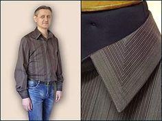 Дизайнерский воротник мужской рубашки