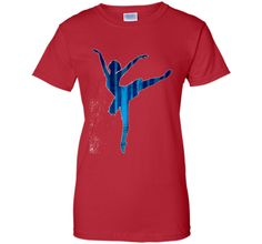Ballerina Blue Patch Artistic Ballet Dancers T Shirt Top