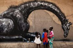 Street Art by ROA, located in Gambia