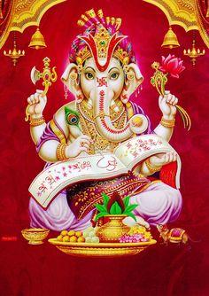 Lord Ganesha Durga Maa Shiva Shakti Hanuman Shree Ganesh Metallic Paper