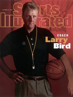 When Larry Bird retired, he swore he'd never coach in the NBA. By his third winter in Florida, he found himself clicking on the TV to watch Miami Heat games and focusing on Heat coach Pat Riley. Basketball Quotes, Basketball Legends, Sports Basketball, College Basketball, Larry Bird, Boston Celtics, 2000 Nba Finals, Si Cover, Sports Illustrated Covers