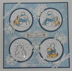 Winter Wonderland. Naughty and Nice Penny Black stamps.