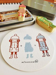 gots to carve me some cute stamps like this