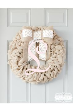 Pink And Gold First Birthday Pink Wreath