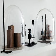 Bell jar display for jewellery, simple and elegant style.