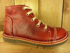 Billy Rock Schuhe Boots BOB  rot auch für Einlagen zwiegenähter Lederschuh