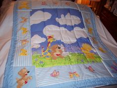 Handmade Baby Little Suzy's Zoo Characters Cotton Baby/Toddler Quilt-NEWLY MADE 2017 by quilty61 on Etsy