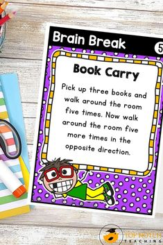 We know the importance of brain breaks to help students focus and learn. Don't waste time looking for fun and effective brain break activities. Just use these printable Brain Break Cards and fill your teacher bag of tricks with brain breaks your students will love. These 60 brain break activities were designed to help students take a short mental break, regain focus, and re-energize to get them back on track for learning. The perfect addition to any classroom management system! Teaching 5th Grade, 5th Grade Classroom, Teaching Kindergarten, Teaching Reading, Learning, Comprehension Strategies, Teaching Strategies, Teaching Tips, Teacher Bags