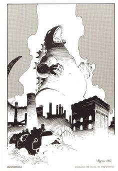 Godzilla by Mike Mignola