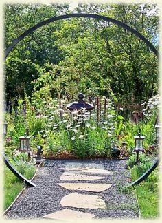 Flower Garden Gate Ideas – Hello and welcome to our website. Below you will find a summary of the benefits. Love Garden, Garden Art, Witchy Garden, Zen, Moon Gate, Garden Arches, Sensory Garden, Garden Landscape Design, Garden Structures