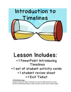 Introduction to Timelines: A great resource to introduce timelines to students