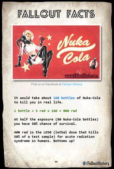 Bottoms up!  More Fallout Facts  fallout nuka-cola nuka cola rad rads radiation exposure
