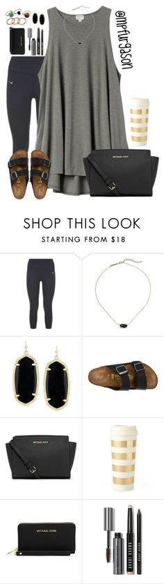 """""""Thanks for 300!!!!!"""" by mpfurgason ❤ liked on Polyvore featuring NIKE, H&M, Kendra Scott, Birkenstock, MICHAEL Michael Kors, Kate Spade, Bobbi Brown Cosmetics, women's clothing, women and female"""