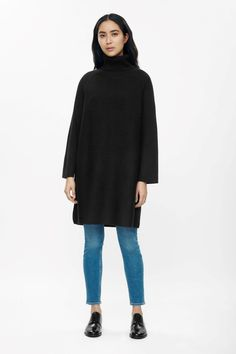 COS | Contrast knit roll-neck dress