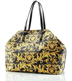 Versace Brings Back Barocco Print And The Gold Bold Heritage Barocco Tote