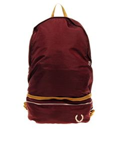 Vintage Nylon Backpack - Fred Perry