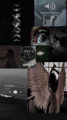 Dark wallpaper collage