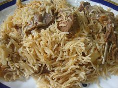 Yakhani pulao is creamish in colour and is light and delicious in flavour! It is less spicy then biryani and easy to cook. Lamb Biryani Recipes, Goan Recipes, Veg Recipes, Curry Recipes, Healthy Chicken Recipes, Cooking Recipes, Kashmiri Recipes, Pancake Recipes, South Indian Vegetarian Recipes