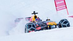 Max Verstappen, Kitzbühel Mountain tops for Live 'Snow Run' ahead of July's Austrian Grand Prix. Red Bull F1, Red Bull Racing, Racing Team, Austrian Grand Prix, Running Ahead, Poster Ads, One Team, Formula One, Motor Car