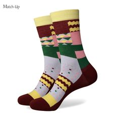 Match-Up men colorful combed cotton socks 268 Colorful Socks, Cotton Socks, Knitting Socks, Knit Socks, Mascot Costumes, Colorful Fashion, Fashion Prints, Fabric, Blue
