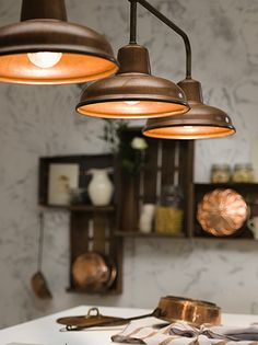"""""""Contrada"""" by Il Fanale. Indoor and outdoor suspension lamps, appliques and ceiling lamps made of brass and copper Copper Lighting, Outdoor Wall Lighting, Interior Lighting, Home Lighting, Pendant Lighting, Lighting Ideas, Brass Lamp, Can Lights, Light Fittings"""